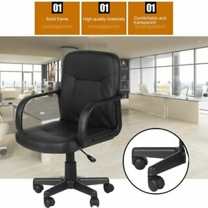 Small Office Chair Leather Task Computer Desk Adjustable Swivel Executive Usa