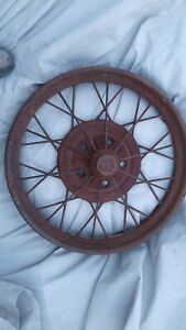 1928 Model A Ford 21 Inch Wire Spoke Wheel Original 5 Lug