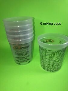 Paint Mixing Cups Quart With Graduations Ppg Compare To Ezmix 70032 Qty 6