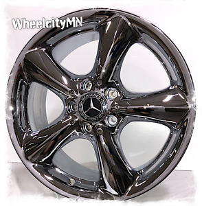 17 Inch Chrome Mercedes C Class Oe Replica Wheels Fits E320 C230 C350 5x112 37