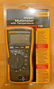 Fluke 116 Digital Hvac Multimeter True Rms With Temperature And Microamps New