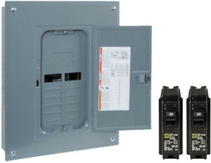 Square d 125 amp 12 space 24 circuit Indoor Load Panel Box Single pole Breakers