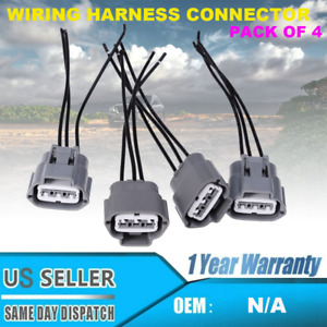 Ignition Coil Pack Wiring Harness Connector 4pcs Set For Nissan Altima Sentra