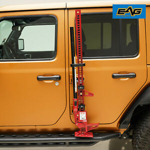 Eag Hi Lift Jack Mount Hood Hinge Door Hinge Bracket Fit 2007 2019 Jeep Jk Jl