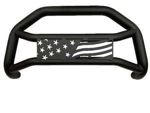 Off Road Us Flag Guard For 05 21 Toyota Tacoma Matted Blk Bumper Guard Bull Bar