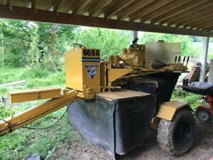Vermeer 665a Tag along Stump Grinder Fully Hydraulic Rubber Tire Wheel Trailer