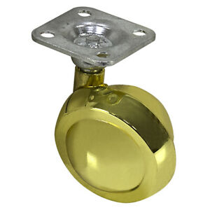 2 Inch Brass Plated Ball Caster W plate Mount 1 5053