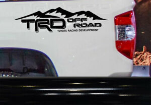 Trd Off Road Vinyl Decal Fits Toyota Tacoma Tundra Truck Bedside Set Of 2 Mt
