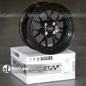 Circuit Cp27 15x7 4 100 35 Full Gloss Black Wheels Fits Acura Integra Dc2 Gsr