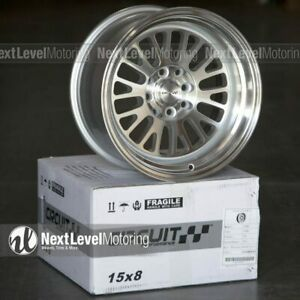 Circuit Cp28 15x8 4 100 4 114 3 0 Silver Machined Wheels Fits Acura Integra Dc2