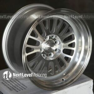 Circuit Cp28 15x8 4 100 4 114 3 0 Silver Machined Wheels Fits Honda Civic Eg Ek