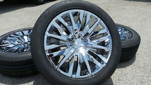 2019 Gmc Sierra Yukon Denali Chrome 22 Wheels Rims Factory Oem Tires 84437264