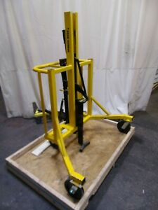 Drum Runner Portable 55 Gallon Hydraulic Barrel Drum Lifting Positioner Cart