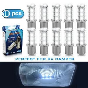1156 Led Car Lights Bulbs 10 Pack Cool Cold White 12v Led Bulbs
