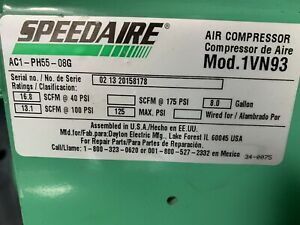 Speedaire 1vn93 6 5 Hp 1320 Rpm 8 0 Gal Tank Portable Gas Air Compressor