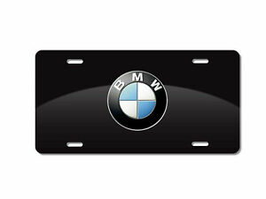 Customize Black License Plate With Bmw Printed 6x12