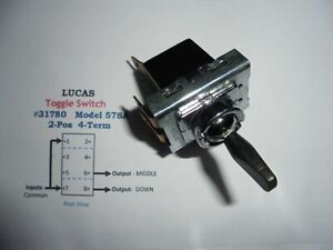 Lucas Vintage 31780 2 Pos 4 Term Toggle Switch
