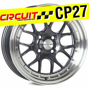 Circuit Performance Cp27 15x7 4 100 35 Gun Metal Wheels Rims set Of 4 Stance