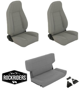 Pre Order 1997 2006 Jeep Wrangler Reclining Front Rear Seat Combo Kit Gray
