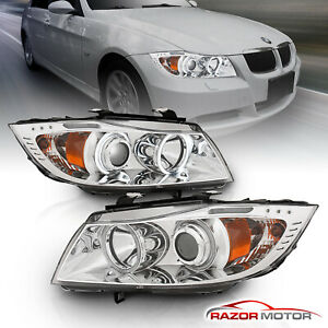 dual Ccfl Halo for 2006 2007 2008 Bmw 3 Series E90 E91 Projector Led Headlights
