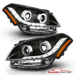 ccfl Halo led Parking for 2010 2011 Kia Soul Projector Black Headlights Pair