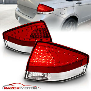 2008 2009 2010 2011 Ford Focus S se ses sel Sedan Led Red Brake Tail Lights Pair