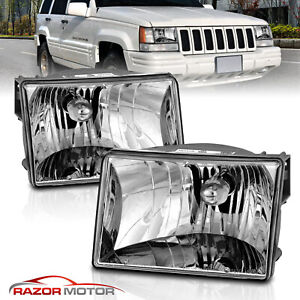 1993 1994 1995 1996 1997 1998 Jeep Grand Cherokee Factory Style Headlights Pair