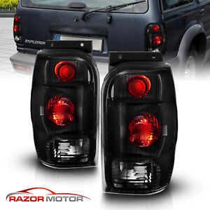 1998 2001 For Ford Explorer Mountaineer Altezza Style Tail Lights Black Smoke