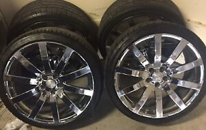 Katana 20 Inch Chrome Rims And 245 35 20 Tires Complete Set Of 4 Great Cond
