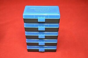 BERRY'S PLASTIC AMMO BOXES (5 BLUE) 50 Round 9MM  380 FAST SHIPPING