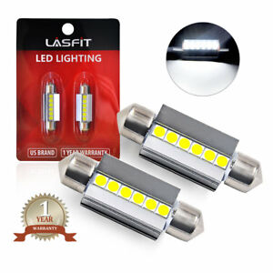 Lasfit 6000k White 6418 6411 36mm Led License Plate Tag Light Bulbs For Bmw Audi