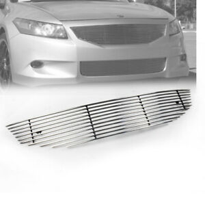 For 2008 2010 Honda Accord Coupe 2dr Top Main Upper Billet Grille Grill Insert