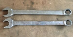 Snap on 1 1 8 And 1 1 16 12 Point Combination Wrench Oex36 And Oex34