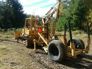John Deere 455e Turbo Crawler Loader Dray Log Loader