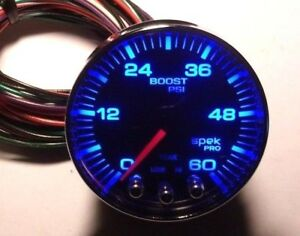Autometer Spek Pro Peak Warn 7color Boost Gauge 0 60psi Turbo Diesel Blower Nice