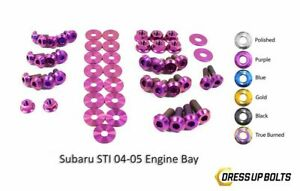 Dress Up Bolts For Wrx Ej205 Sti Ej257 2004 2005 Titanium Engine Bay Kit Purple