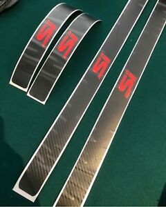 2012 15 Honda Civic Si Sedan Door Jam Red Si Carbon Fiber Strips Vinyl Precut