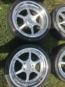 Hre C22 For Porsche 1986 930 911 Turbo 18x8 5 Front 18x11 Rear Set Pre owned