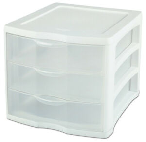 Sterilite 3 Drawer Organizer 8 1 2 X 11 Stackable Pack Of 4