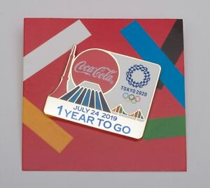 2020 Tokyo Olympic Coca Cola - 1 YEAR TO GO - Pin Badge Japan Coke Collectible