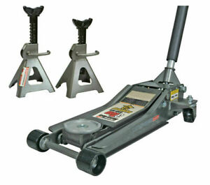 3 Ton Low Profile Floor Jack And Jack Stands Set Steel Hydraulic Car Jack Lift