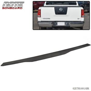 Fit For Nissan Titan Pickup 04 12 Tailgate Molding Cap Abs Spoiler Cover Black