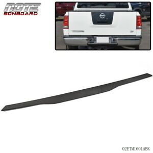 For Nissan Titan Pickup 2004 2012 Tailgate Molding Cap Abs Spoiler Cover Black
