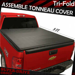 For 2009 2018 Ford F 150 8 Ft Long Bed Lock Tri fold Assemb Soft Tonneau Cover