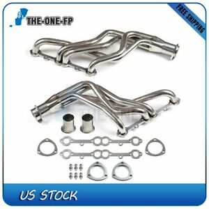 Stainless Steel For Chevy Gmc Small Block Fits Chevy Truck Header Set Sliver