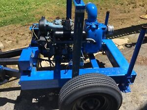 Thompson 4 Diesel Water Pump Trailer Only 950 Hours