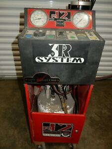 Automotive R 12 Ac Refrigerant Recovery Machine W Tanks White Ind 1095xl