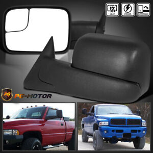 New Tow Mirrors For 98 01 Dodge Ram 1500 98 02 2500 3500 Flip Up Power Heated