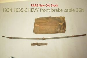 1934 1935 Chevy Front Emergency Parking Brake Cable Antique Nors Supco 36n