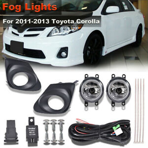 For 2011 2013 Toyota Corolla Clear Bumper Fog Lights Lamps Switch bracket wiring